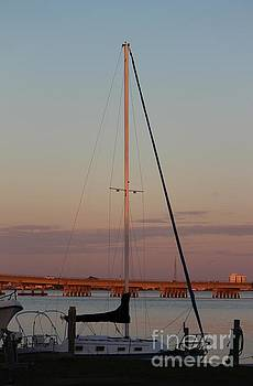 Sunset Sailboat by Joanne Askew