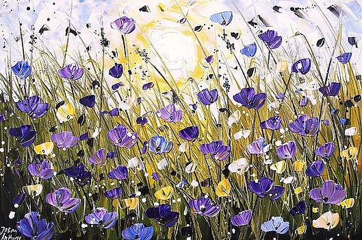 Sunshine On Poppifield by Jolina Anthony