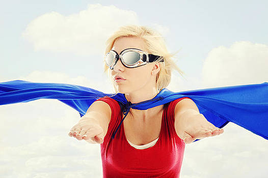 Super Woman In Flight by Kriss Russell