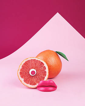 Surreal Pink Grapefruit With Eye And by