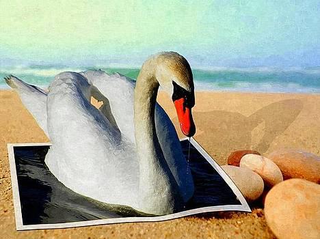 Swan 3D by Amanda Struz