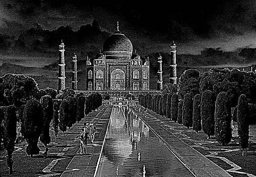 Taj Mahal by Moonlight by David Murphy