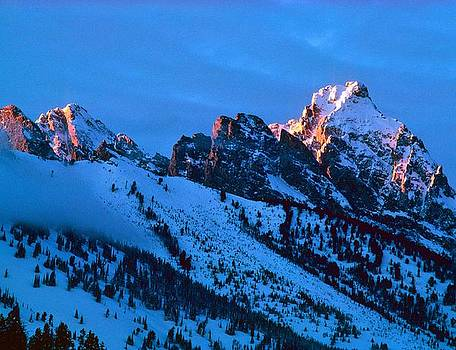 Teton Alpenglow by Philip Bobrow