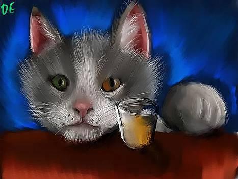 The Drinking Cat by Dakota Eichenberg
