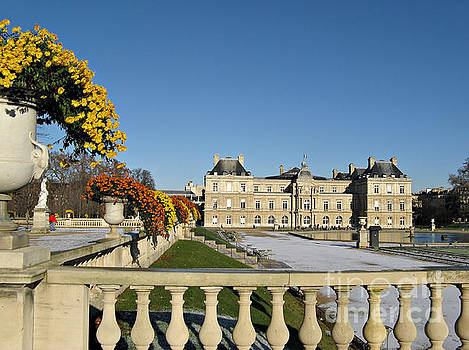 The Luxembourg Palace in Paris France by Kiril Stanchev