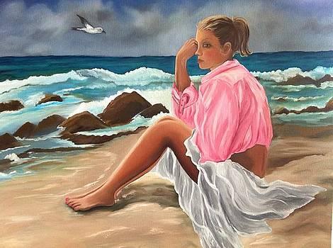 The Pink Blouse by Caroline  Stuhr