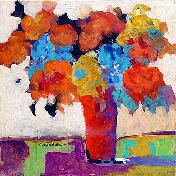 The Red Vase 13035 by Nancy Standlee