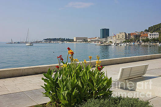 The Riva Split Waterfront in a bright sunny day by Kiril Stanchev