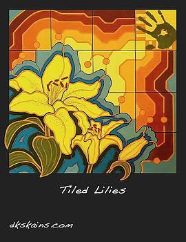 Tiled Lilies by Dorinda K Skains