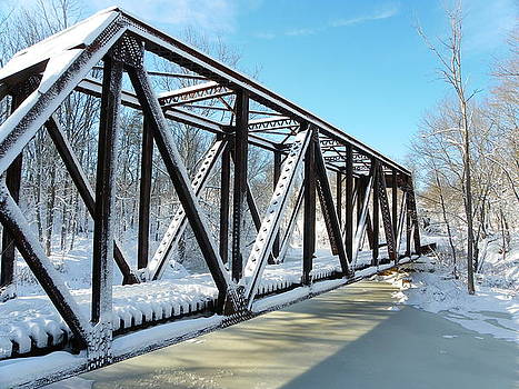 Trestle in Winter by Sarah Lamoureux