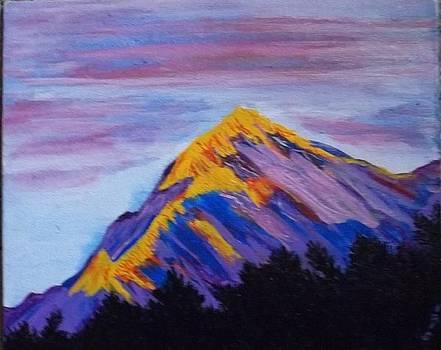 Trishul peak in the Western Himalayas by Iris Devadason