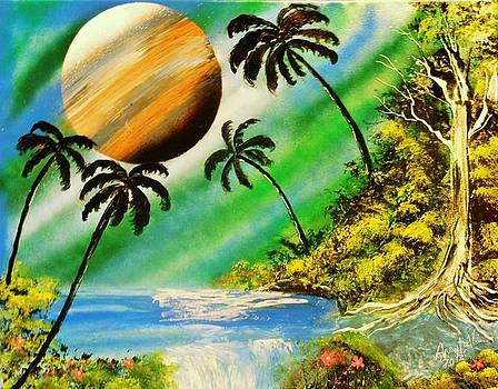 Tropical cove by Amy LeVine