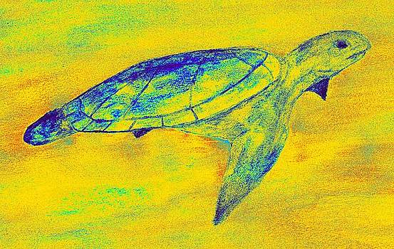 Turtle Life - Digital Ink Stamp Yellow by Brett Smith