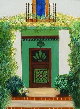 Tuscan door by Anke Wheeler