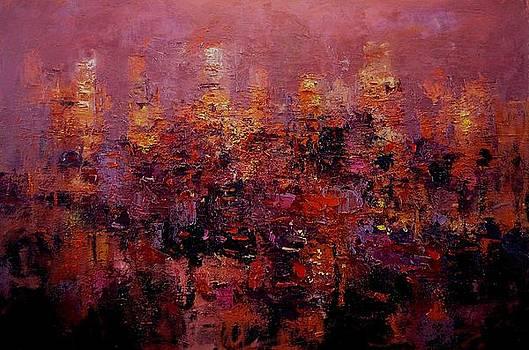 Twilight in L A by R W Goetting