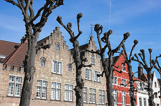 Typical Bruges Facades by Kiril Stanchev