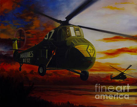 UH-34D Over the Beach by Stephen Roberson