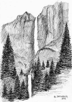 Upper and Lower falls by Al Intindola