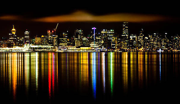 Vancouver At Night by Craig Brown