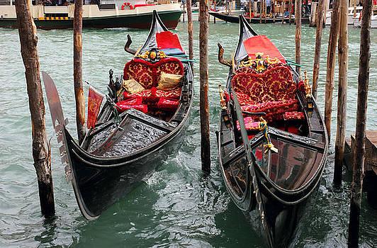 Venetian Gondolas by Kiril Stanchev