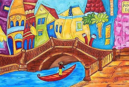 Venise en Italie by Chantal Lariviere