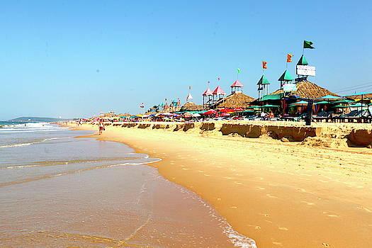 View Of Candolim Beach In Goa, India by Jill Schneider