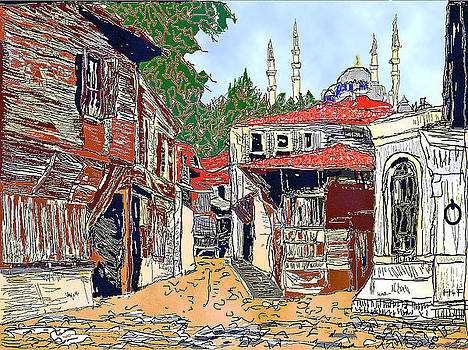View of old Istanbul by Herbert French