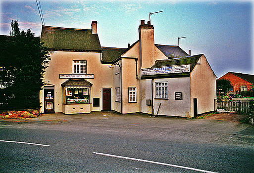 Village Shop Leicestershire UK 1970s by David Davies