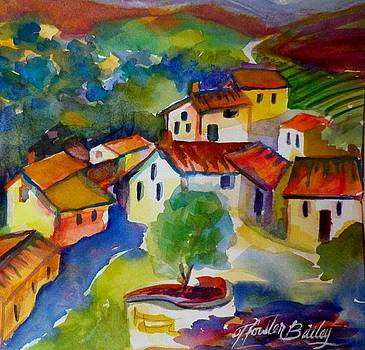 Villas in the Chianti Region SOLD ORIGINAL  by Therese Fowler-Bailey