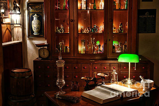 Vintage Apothecary Shop by Olivier Le Queinec