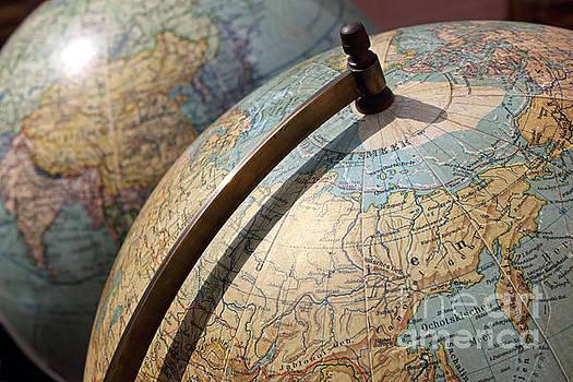 Vintage Globes by Kiril Stanchev