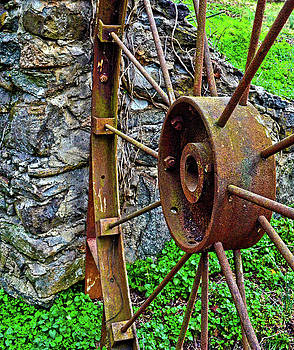 Vintage Wagon Wheel Gate by Sandi OReilly