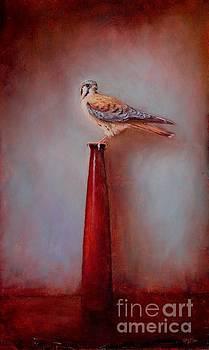 Watchtower - American Kestrel  by Lori  McNee