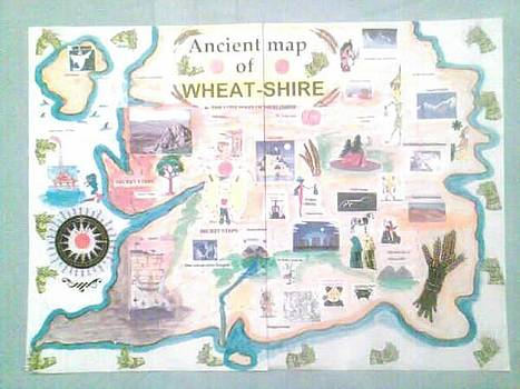 Wheatshires Aincient Map by MERLIN Vernon