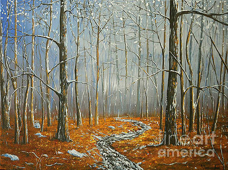 When Snow Melts in the Autumn Woods by Connie Tom