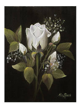 White Roses by Nancy Edwards