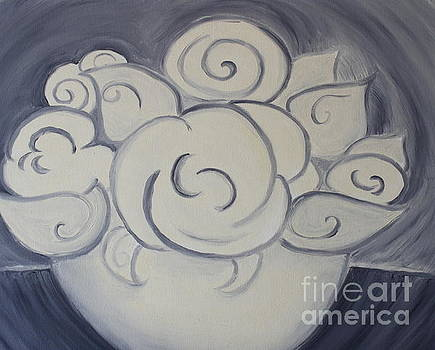 White Roses by Teresa Hutto