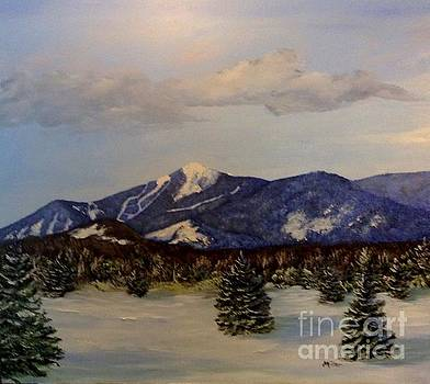 Whiteface in Blue by Peggy Miller