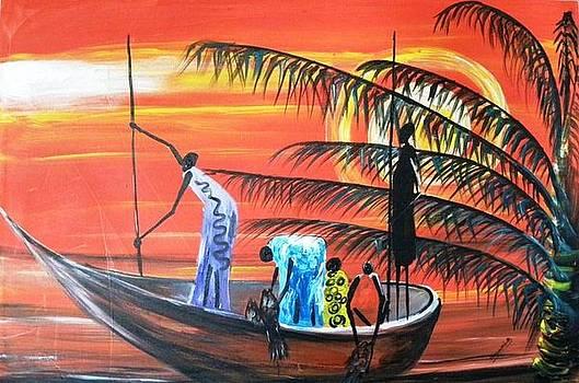 Widows Fishing by Muwumba
