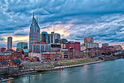 Winter Sunset Nashville Cityscape by Patrick Collins