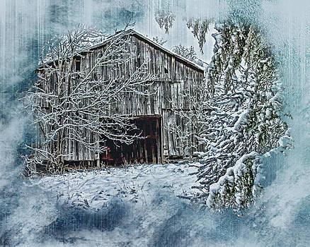 Winter Tobacco Barn by Gene Linzy
