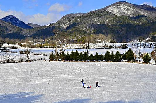 Wolffork Valley Winter by Susan Leggett
