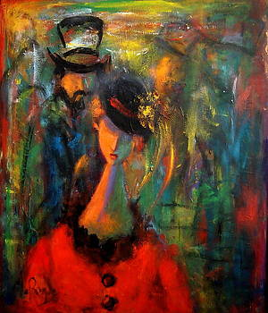 Woman in a Red Dress  by Marina R Burch