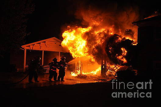 Working Garage Fire by Steven Townsend