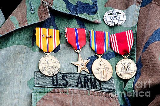 World war II veteran medals by Cheryl Casey