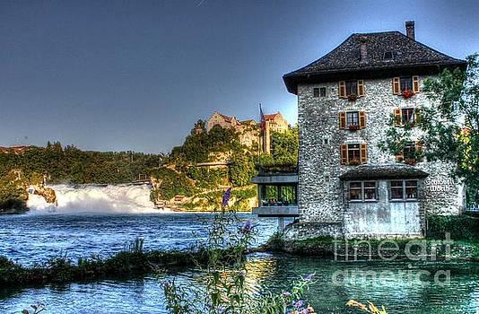 Worth castle Rheinfall  by Ines Bolasini