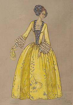 Yellow crinoline by Damira Fuzul