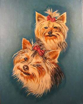 Yorkie Girls by Creations by DuBois