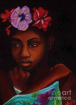 Young Girl with Flowers by Elaan Yefchak