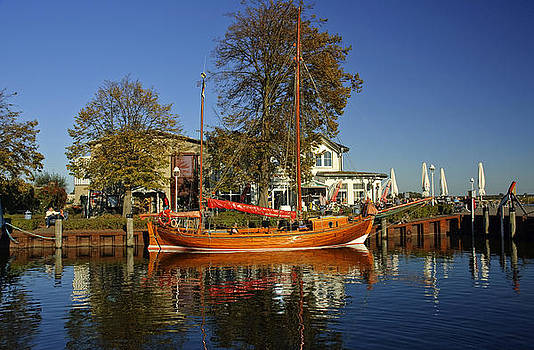 Zees boat at Zingst Germany by David Davies